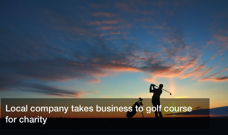Local company takes business to golf course for charity