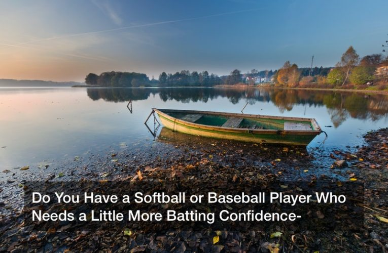 Do You Have a Softball or Baseball Player Who Needs a Little More Batting Confidence?